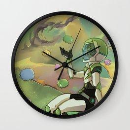 Trash Nebula Wall Clock