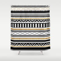 aztec Shower Curtains featuring Aztec by Kakel