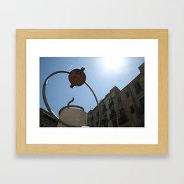 plaza de george orwell Framed Art Print