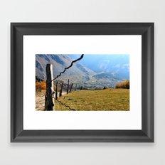 Valley of River Sno Framed Art Print