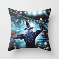 Throw Pillows featuring To Fly by MeredithWolting