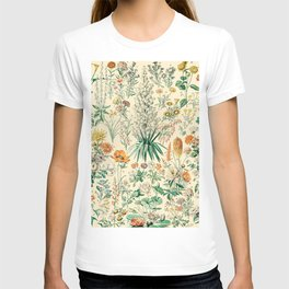 Floral Diagram // Fleurs IV by Adolphe Millot XL 19th Century French Science Textbook Artwork T-shirt