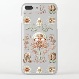Ernst Haeckel - Jellyfish Scientific Illustration Clear iPhone Case