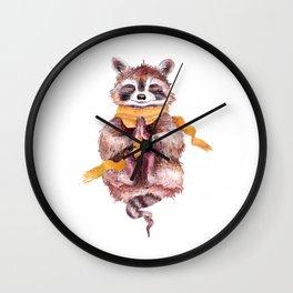 raccoon meditates (male) Wall Clock