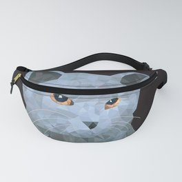 Low poly british cat Fanny Pack