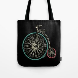 Cycling Forever | Penny Farthing High Wheel Tote Bag