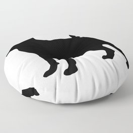 Simple Pug Silhouette Floor Pillow