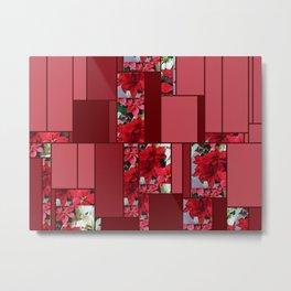 Mixed color Poinsettias 1 Art Rectangles 8 Metal Print