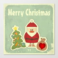 merry christmas Canvas Prints featuring Merry Christmas by Cs025