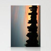 cincinnati Stationery Cards featuring Cincinnati Skyline by Page Lansley