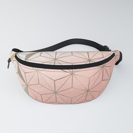 Cubes Collection - Soft Gold Fanny Pack