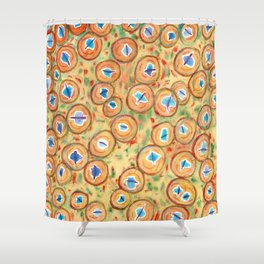 Marvelous Galaxies Pattern Shower Curtain