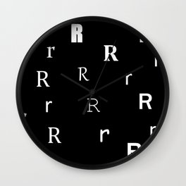 R for my name Renee Wall Clock