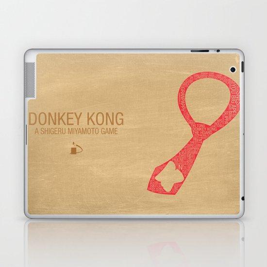 Donkey Kong Typography Laptop & iPad Skin
