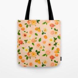 Apricot Rose in Peach Sorbet Tote Bag