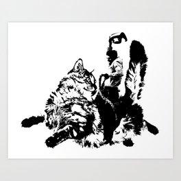 Catrider 2 Art Print