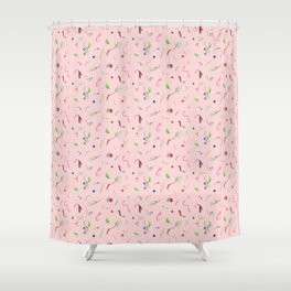 Berries, eyes and leaves Shower Curtain