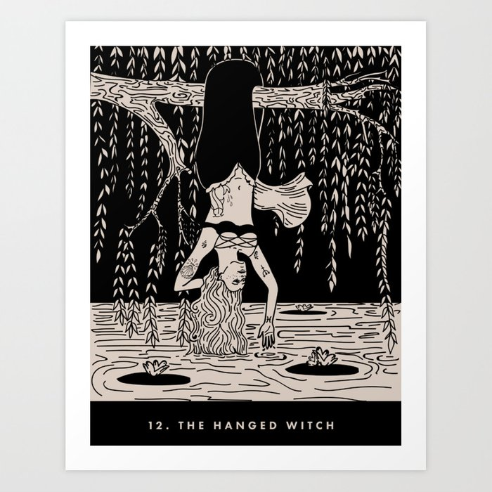12. THE HANGED WITCH Art Print