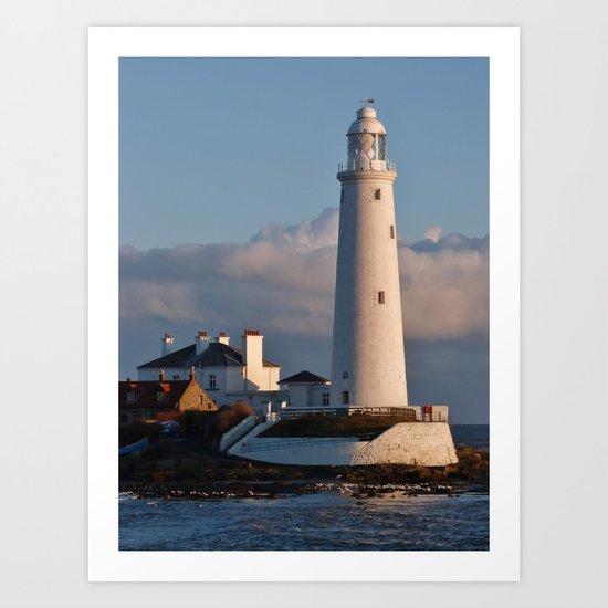 Morning Sun, St Mary's Lighthouse Art Print