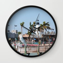 Port Isabel Lighthouse Wall Clock
