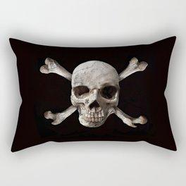 Jolly Roger - Black and Bone Rectangular Pillow