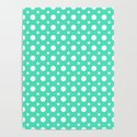 Menthol green and white polka dots pattern by sunshineprints