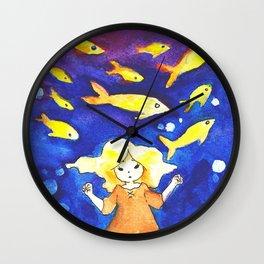 Little Guppies Wall Clock