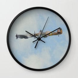 Spitfire and Hurricane Wall Clock