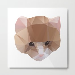 GEOMETRIC CAT Metal Print