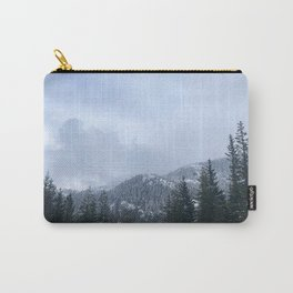 Snowy Peaks Above a Green Forest in Victoria, B.C. (Canada) Carry-All Pouch