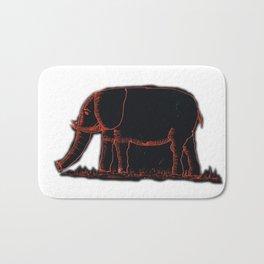 Elephants # 507 Bath Mat