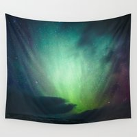 iceland Wall Tapestries featuring Iceland Aurora by Simon Reinert