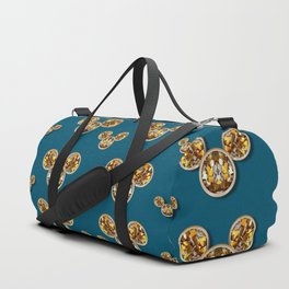 Cartoon animals in gold and silver gift decorations Duffle Bag