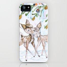 Cute Watercolor Deer iPhone Case