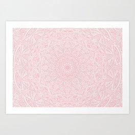 Most Detailed Mandala! Rose Gold Pink Color Intricate Detail Ethnic Mandalas Zentangle Maze Pattern Art Print