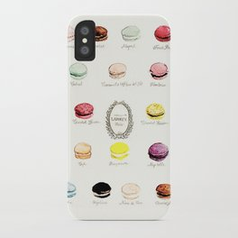 laduree macaron menu iPhone Case