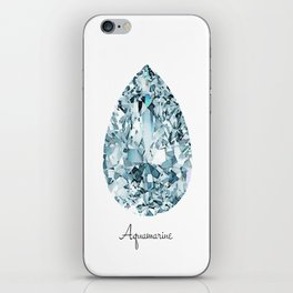 Aquamarine iPhone Skin