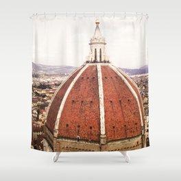 Duomo - Hazy, Florence Photography Shower Curtain