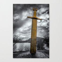 Llanberis Sword Snowdonia Canvas Print