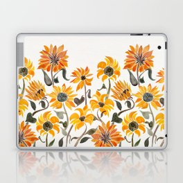 Sunflower Watercolor – Yellow & Black Palette Laptop & iPad Skin