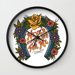 Never Stop Falling For Me Wall Clock