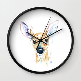 Peekaboo Deer Wall Clock