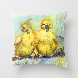 Kleine Enten, small duck Throw Pillow