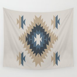 Santa Fe Southwest Native American Indian Tribal Geometric Pattern Wall Tapestry