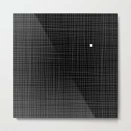 Black and White Grid - Something's missing Metal Print
