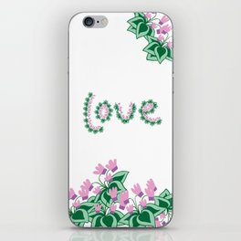 Cyclamen love iPhone Skin