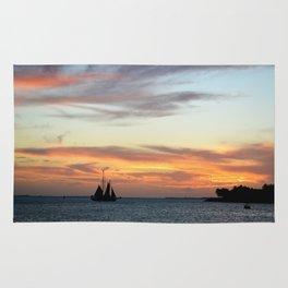 Sunset in Key West Florida Rug