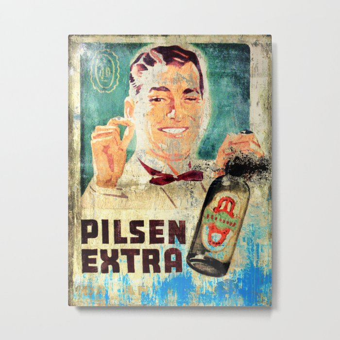 Antarctica Beer - Vintage Beer Metal Print