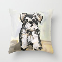 Little Schnauzer Throw Pillow