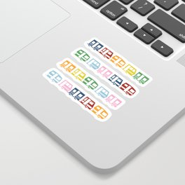 Camp Color Sticker